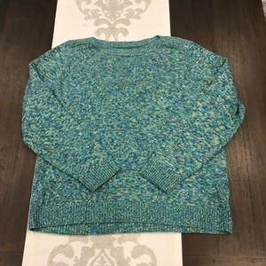 Croft & Barrow XL blue green marled sweater